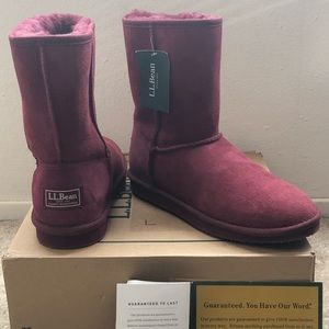 LL Bean Wicked Good Shearling Boots Mid Height